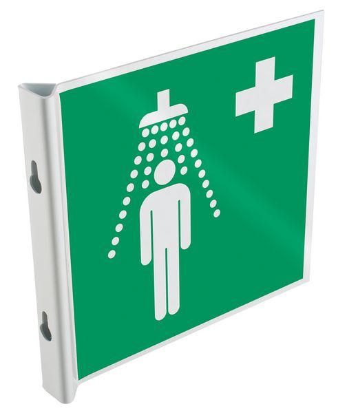 Panneaux en drapeau et tridimensionnels EN ISO 7010 Douche de sécurité