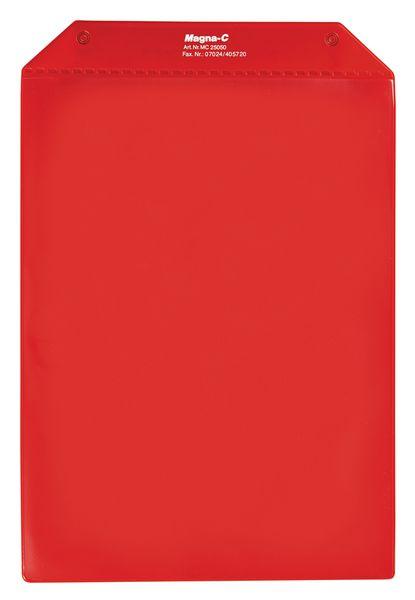 Pochettes de protection rouge à 1 bande magnétique