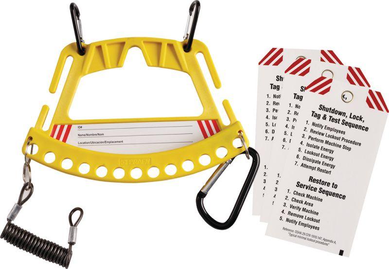 Porte-cadenas pour 12 cadenas et plaquettes de consignation.
