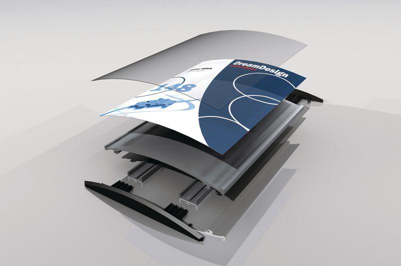 Signalétique intérieure Modulo classique bombée en aluminium