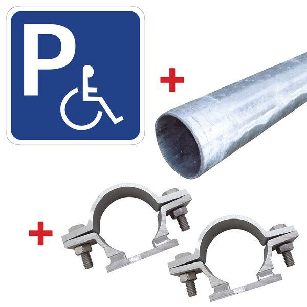 Panneaux de parking avec symbole place handicapé