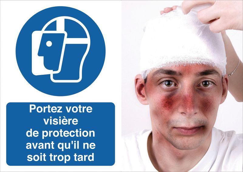 Poster de sécurité - Portez votre visière de protection - M013