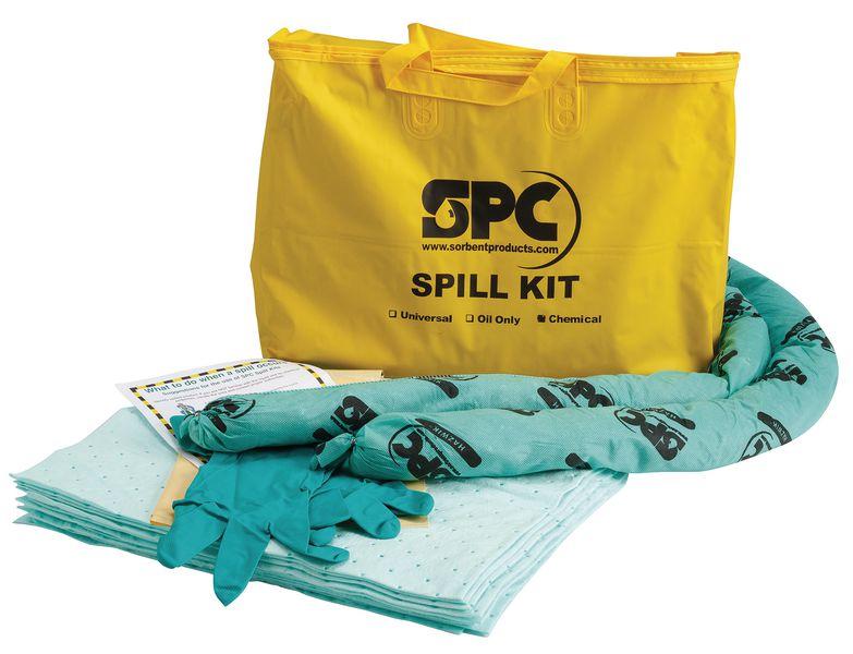 Kit absorbant pour produits chimiques en sac transportable