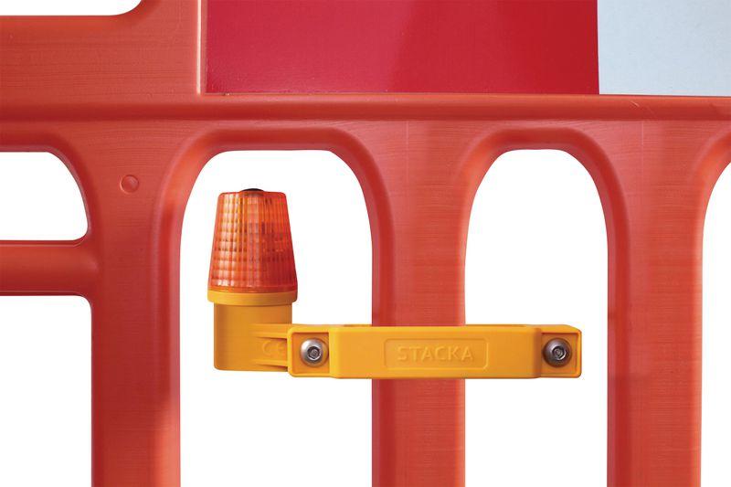 Lampe de sécurité pour barrière de chantier