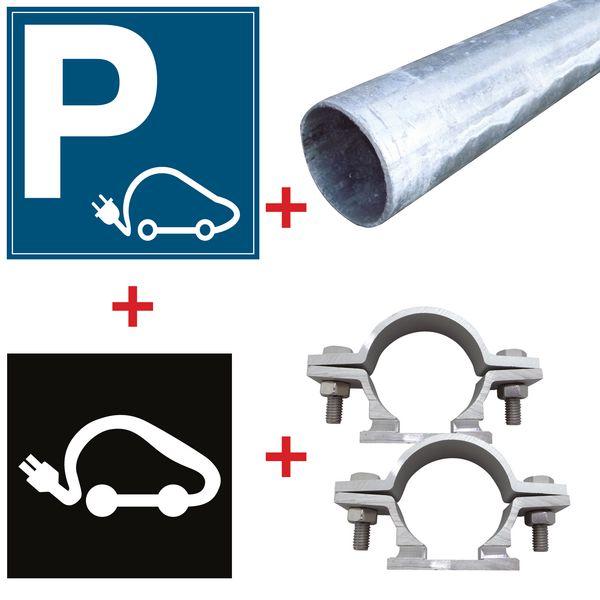 Kit place réservée aux voitures électriques - Marquage thermoplastique