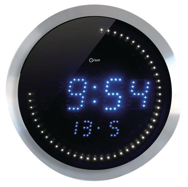 Horloge digitale ronde