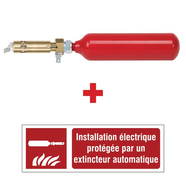 Mini extincteurs automatiques pour armoires électriques avec panneau