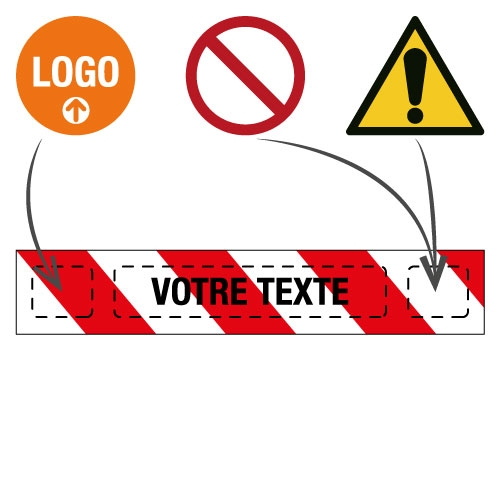 Ruban de signalisation de chantier personnalisable