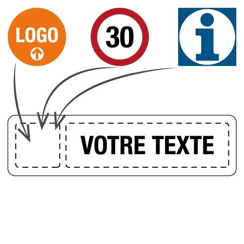 Panneaux de signalisation d'entreprise personnalisés
