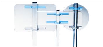Systèmes de fixation poteau / panneau : fonctionnement