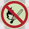 panneau interdiction photoluminescent