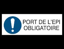 Pictogramme indiquant que le port des EPI est obligatoire