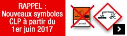 Nouveaux symboles CLP à partir du 1er juin 2017