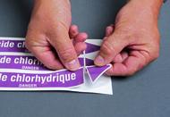 marqueurs prédécoupés sur carte