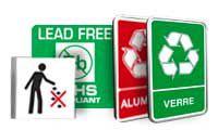 Borden en pictogrammen Sorteren van afval