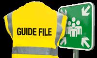 Evacuatiemateriaal en borden Verzamelplaats