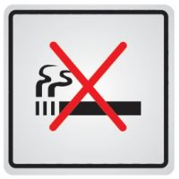 """Zelfklevende informatieborden van staal """"Verboden te roken"""""""