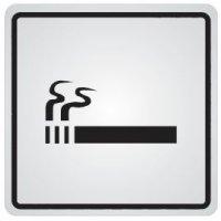 """Zelfklevende informatieborden van staal """"Roken toegestaan"""""""