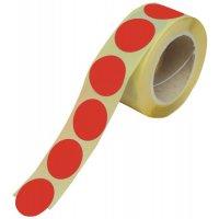 Gekleurde, ronde stickers van vinyl, op rol