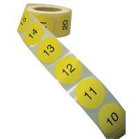 Multifunctionele, genummerde stickers van papier