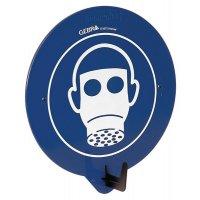 """PBM-deurhaak met pictogram """"Ademhalingsbescherming verplicht"""""""