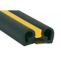 Stootrand voor muur van gewapend elastomeer, oppervlak van 105 mm