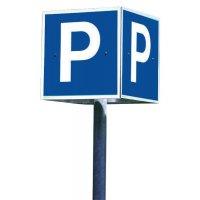 Kubusvormige parkeerborden