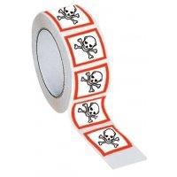 """CLP-verpakkingstape van polypropyleen """"Acute toxiciteit categorie 1, 2, 3"""" - GHS06"""
