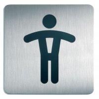 """Design informatieborden van aluminium """"Toilet heren"""""""