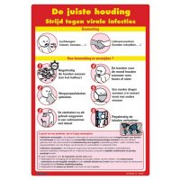 Posters voor hygiëne op het werk - Strijd tegen virale infecties