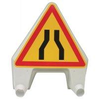 """Tijdelijke gevaarsborden """"Vernauwde rijweg"""""""