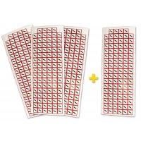 """Set stickers met CLP-pictogrammen - 3+1 vellen """"Gas onder druk"""" - GHS04"""
