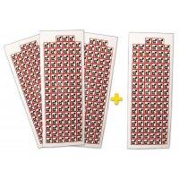 """Set stickers met CLP-pictogrammen - 3+1 vellen """"Kankerverwekkende, mutagene & reprotoxische stoffen"""" - GHS08"""