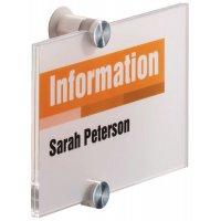 Personaliseerbare, transparante deurborden, van hard acryl