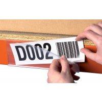 Transparante, zelfklevende etikethouders