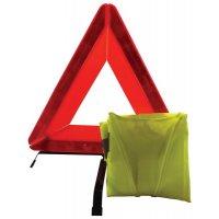 Verplichte EHBO-kit voor de auto, met veiligheidshesje en gevarendriehoek