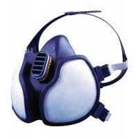 Halfgelaatsmaskers 3M™ Série 4000 met dubbele filter, voor eenmalig gebruik
