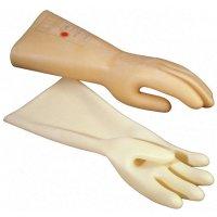 Isolerende handschoenen van natuurlijk latex, voor werken met elektriciteit
