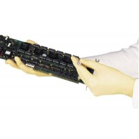 Niet-gepoederde, latex wegwerp handschoenen