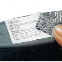 Personaliseerbare etiketten voor laserprinter, met tamper proof evidence in dambordpatroon