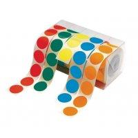 Dispenser voor gekleurde, ronde stickers
