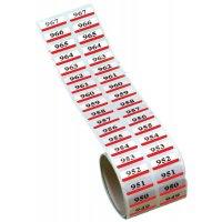 Dubbele etiketten met nummering, van gemetalliseerd polyester