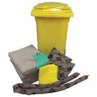 Kit met absorptiemiddelen in verplaatsbare container, voor alle industriële vloeistoffen
