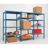 Modulaire magazijnstelling met buislegborden, voor zware lasten