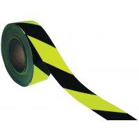 Fotoluminescente en fluorescerende, geel/zwarte vloertape