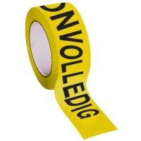 Verpakkingstape voor kwaliteitscontrole - onvolledig / controle afgekeurd