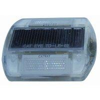 Wegreflectoren met ledlampen op zonne-energie, wit of geel