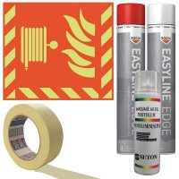 """Kit met sjabloon en fotoluminescente markeringsverf """"Brandslang"""""""