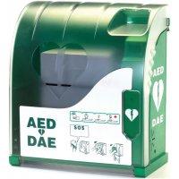 Verwarmde AED-kast voor buiten met alarm