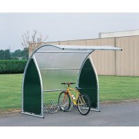 Modulaire overdekte fietsen- en motorstalling met zijwanden